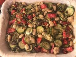 Veggie bean pie